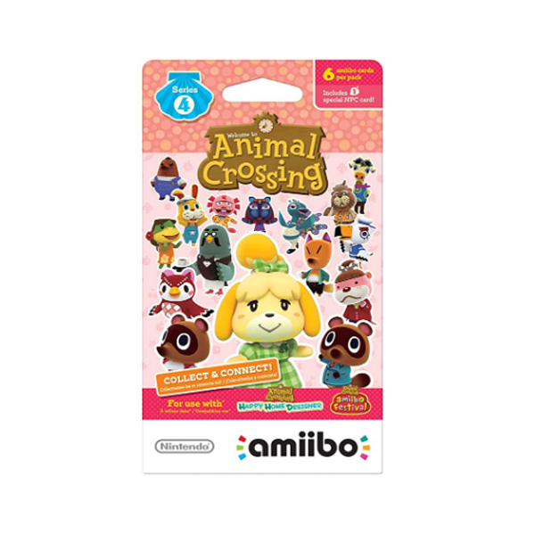 Nintendo(ニンテンドー/任天堂) / Animal Crossing amiibo Cards / どうぶつの森 海外仕様 / シリーズ4 / 6枚 amiiboカード ゲーム