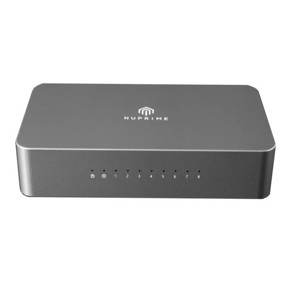 NuPrime(ニュープライム) / Omnia SW-8 / 8ポート・ギガビット・イーサネット・ネットワーク・スイッチ ハブ