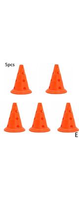 サッカー 障害物 カラーコーンのみ 5個セット  / オレンジ / スポーツトレーニング用