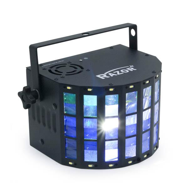 e-lite(イーライト) / RAZOR ST / LED RGBW ダービーライト ストロボライト / 照明 マルチエフェクトライト 【DMX対応 DJ ライブ 舞台 演出】