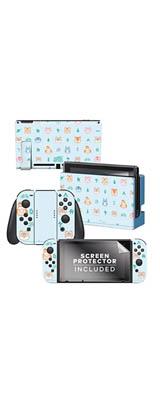 Controller Gear / animal crossing (ライトブルー つぶきち まめきち パッチ オーロラ等)  / あつまれ どうぶつの森 海外限定品 公式ライセンス品 / Nintendo Switch用 ドックスキン シール