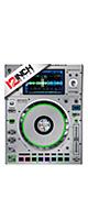 12inch SKINZ / Denon SC5000 Prime SKINZ Metallics (Brushed Silver) ペア 【SC5000 Prime用スキン】