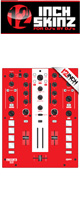 12inch SKINZ / Mixars DUO Skinz (RED) 【DUO 用スキン】