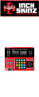 12inch SKINZ / Native Instruments Maschine Studio Skinz (Red/Black) 【Maschine Studio 用スキン】