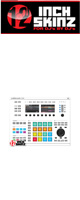 12inch SKINZ / Native Instruments Maschine Studio Skinz (White/Gray) 【Maschine Studio 用スキン】