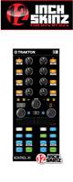 12inch SKINZ / Native Instruments Kontrol X1 MK2 Skinz (Black) 【KONTROL X1 MK2 用スキン】