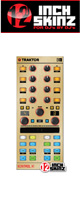 12inch SKINZ / Native Instruments Kontrol X1 MK2 Skinz Metallics (Brushed Gold) 【KONTROL X1 MK2 用スキン】