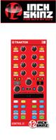 12inch SKINZ / Native Instruments Kontrol X1 MK2 Skinz (Red) 【KONTROL X1 MK2 用スキン】