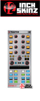 12inch SKINZ / Native Instruments Kontrol X1 MK2 Skinz Metallics (Brushed Silver) 【KONTROL X1 MK2 用スキン】