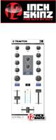 12inch SKINZ / Native Instruments Kontrol Z1 Skinz (White/Gray) 【KONTROL Z1用スキン】
