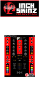 12inch SKINZ / Native Instruments TRAKTOR KONTROL Z2 Skinz (Black/Red) 【Z2 用スキン】