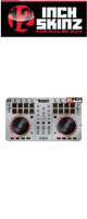 12inch SKINZ / Numark Mixtrack Pro 2 Skinz  Metallics (Brushed Silver) 【Mixtrack Pro 2用スキン】