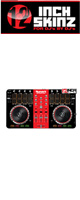 12inch SKINZ / Numark Mixtrack Pro 2 Skinz (Black/Red) 【Mixtrack Pro 2用スキン】