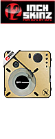 12inch SKINZ / Numark PT01 Scratch Skinz Metallics (Brushed Gold) 【PT01 Scratch用スキン】