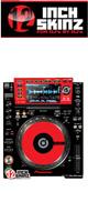 12inch SKINZ / Pioneer CDJ-2000NXS Skinz (Black/Red) ペア 【CDJ-2000NXS用スキン】