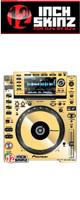 【限定2台】12inch SKINZ / Pioneer CDJ-2000NXS Skinz Metallics (Mirror Gold) ペア 【CDJ-2000NXS用スキン】『セール』『DJ機材』