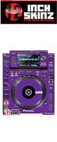 12inch SKINZ / Pioneer CDJ-2000NXS Skinz (Purple) ペア 【CDJ-2000NXS用スキン】