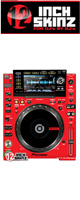 12inch SKINZ / Pioneer CDJ-2000NXS Skinz (Red/Black) ペア 【CDJ-2000NXS用スキン】