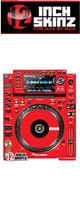 12inch SKINZ / Pioneer CDJ-2000NXS Skinz (Red) ペア 【CDJ-2000NXS用スキン】