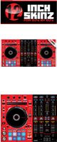 12inch SKINZ / Pioneer DDJ-RX SKINZ(Red/Black) 【DDJ-RX用スキン】