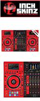 12inch SKINZ / Pioneer DDJ-RZX SKINZ (RED/BLACK) 【DDJ-RZX用スキン】