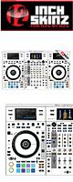 12inch SKINZ / Pioneer DDJ-RZX SKINZ (White/Gray) 【DDJ-RZX用スキン】