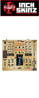 12inch SKINZ / Pioneer DJM-2000 SKINZ Metallics (Brushed Gold) - 【DJM-2000用スキン】