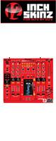 12inch SKINZ / Pioneer DJM-2000 SKINZ (Rrd/Black) - 【DJM-2000用スキン】