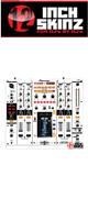 12inch SKINZ / Pioneer DJM-2000 SKINZ (WHITE/BLACK) - 【DJM-2000用スキン】