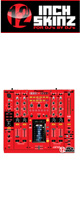 12inch SKINZ / Pioneer DJM-2000NXS SKINZ (RED/BLACK) - 【DJM-2000NXS用スキン】
