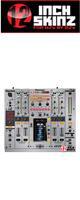 12inch SKINZ / Pioneer DJM-2000NXS SKINZ Metallics (Brushed Silver) - 【DJM-2000NXS用スキン】