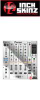12inch SKINZ / Pioneer DJM-800 SKINZ (Mirror Silver) - 【DJM-800用スキン】