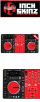 12inch SKINZ / Pioneer XDJ-R1 SKINZ (BLACK/RED) 【XDJ-R1用スキン】
