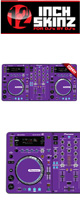 12inch SKINZ / Pioneer XDJ-R1 SKINZ (Purple) 【XDJ-R1用スキン】