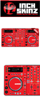 12inch SKINZ / Pioneer XDJ-R1 SKINZ (RED) 【XDJ-R1用スキン】