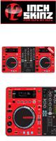 12inch SKINZ / Pioneer XDJ-R1 SKINZ (RED/BLACK) 【XDJ-R1用スキン】
