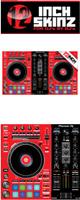 12inch SKINZ / Pioneer DDJ-RR SKINZ (Black/Red) 【DDJ-RR用スキン】