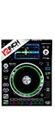 12inch SKINZ / Denon SC5000 Prime SKINZ (BLACK) ペア 【SC5000 Prime用スキン】