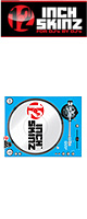 12inch SKINZ / Stanton STR8.150 Skinz (LITE BLUE) ペア 【STR8.150用 マグネットタイプスキン】