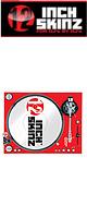 12inch SKINZ / Stanton STR8.150 Skinz (RED) ペア 【STR8.150用 マグネットタイプスキン】