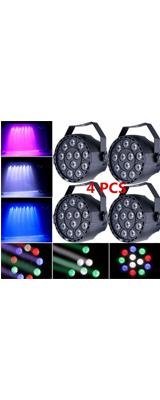 4個セット RGB パーライト / DMX512 DJパーティ照明 ライブ 舞台 演出 照明機材