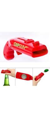 銃型(ピストル型) ボトルオープナー 栓抜き (レッド) / おもちゃ
