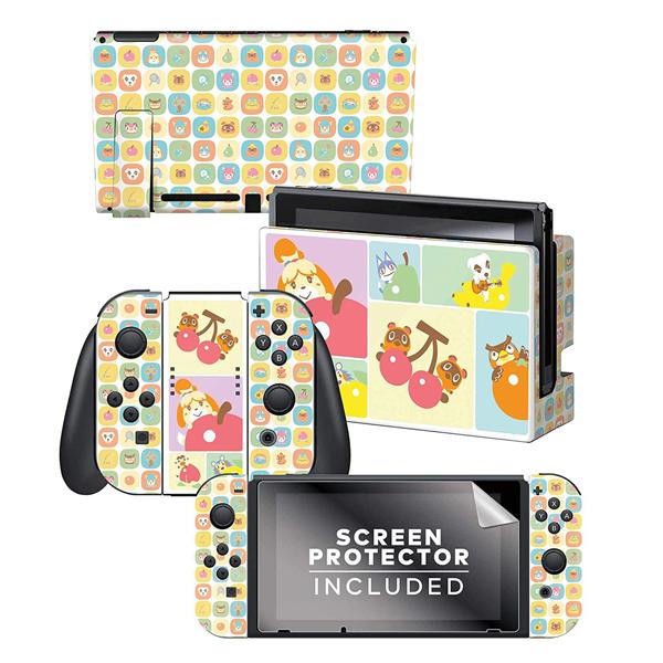 Controller Gear / animal crossing あつまれ どうぶつの森 / フルーツ(しずえ・つぶきち・まめきち・フータ・あやしいネコ)  海外限定品 公式ライセンス品 / Nintendo Switch用 ドックスキン シール