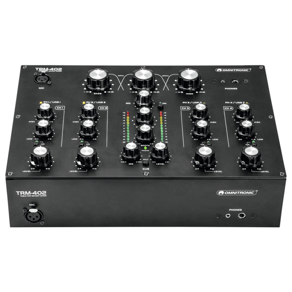 Omnitronic / TRM-402 4チャンネル DJ用ロータリーミキサー