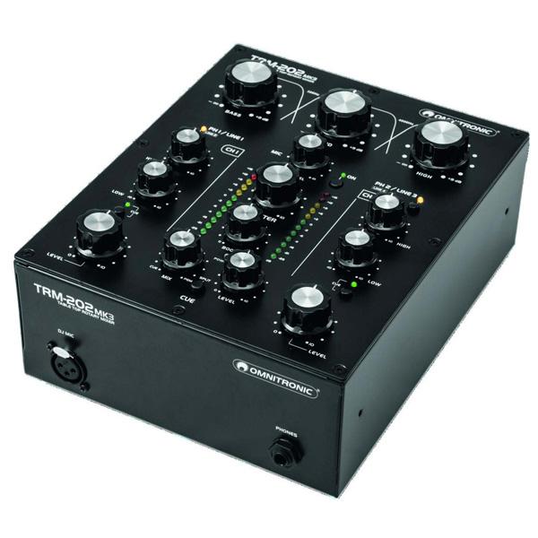 Omnitronic / TRM-202 MK3 2チャンネル DJ用ロータリーミキサー 2大特典セット