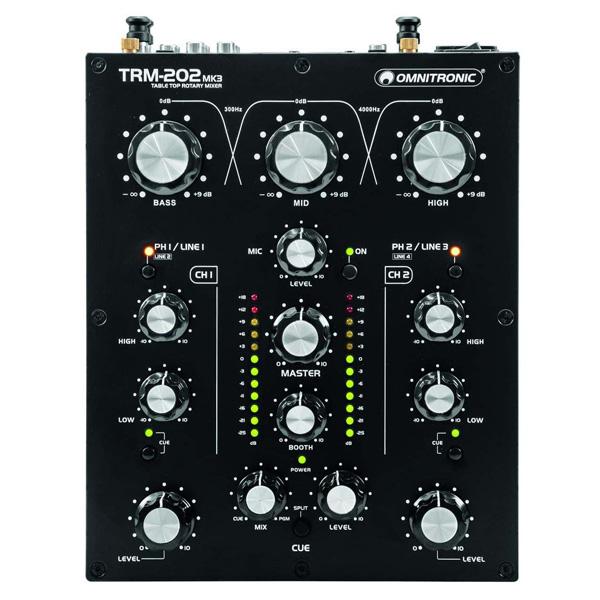 【限定1台】【中古】Omnitronic / TRM-202 MK3 2チャンネル DJ用ロータリーミキサー
