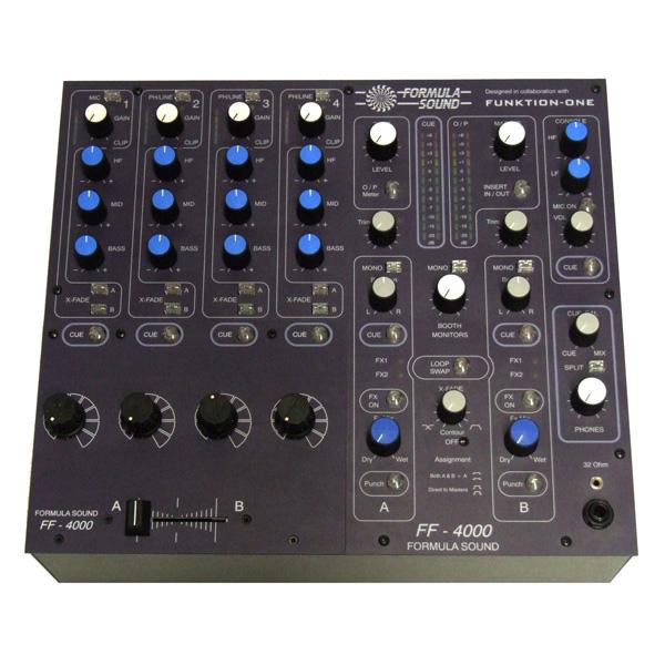 Formula Sound / FF-4000R 4チャンネル DJ用ロータリーミキサー
