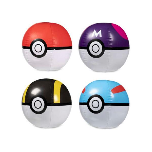 Pokemon Center(ポケモンセンター) / Pokemon Sunset Beach Balls (4-Pack) / ポケモン モンスターボール / ビーチボール