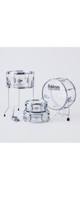 Foldrum(フォルドラム) / 小口径セット (金具パーツ:クローム)  / 折り畳み コンパクト /  ドラムセット 2大特典セット