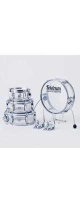 Foldrum(フォルドラム) / 超小口径セット (クローム)  / 折り畳み コンパクト /  ドラムセット 2大特典セット